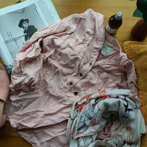 Bass Co. Pink Pocket Button Down Top
